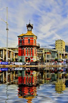 Clock Tower in Cape Town's harbor. Prints for sale at: http://fineartamerica.com/featured/clock-tower-maria-coulson.html