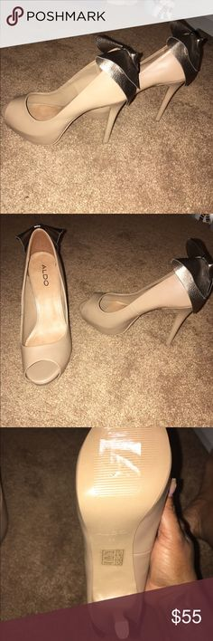 Aldo shoes with bow detail Super cute Aldo shoes brand new only tried on never been worn. No box sorry Aldo Shoes Platforms
