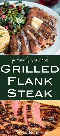 A flank steak recipe that works the best is anything that involves a grill. Grilling flank steak will get you the best results and a tasty meal.