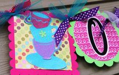 ONEderland Birthday Banner Alice in Wonderland by SoCuteParties, $28.00