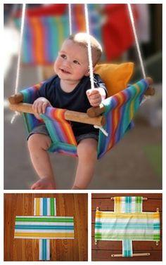 DIY Fabric Hammocks to Enjoy in Summer Sewing For Kids, Diy For Kids, Crafts For Kids, Fabric Crafts, Sewing Crafts, Sewing Projects, Diy Projects For Bedroom, Diy Hammock, Sand Crafts