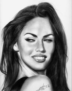 Pencil Drawings of Actors - Megan Fox