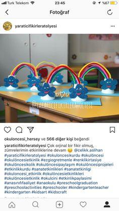 Gökkuşağı Easy Valentine Crafts, Easy Crafts For Kids, Diy For Kids, Diy And Crafts, Preschool Education, Preschool Art, Toddler Activities, Preschool Activities, Rainbow Crafts