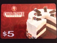 Free: ** $5 COLD STONE CREAMERY GIFT CARD ** - Gift Cards - Listia ...