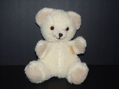 """Vintage Snuggle White Bear Lever Brothers Russ Berrie 1986 Plush Hand Puppet 11"""" #Snuggle"""