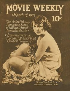 Silent Movie Magazine - Movie Weekly - March 1922 - Helen Chadwick