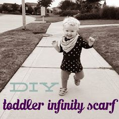 "Sunflower State of Mind: (Ridiculously Easy) DIY Toddler Infinity Scarf (use a T-shirt with no side seams if you want this to be ""no-sew"")"