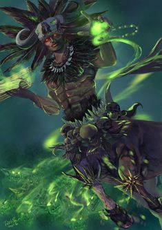 I don't own this art! Black Anime Characters, Fantasy Characters, Fantasy Character Design, Character Art, Character Inspiration, African Witch Doctor, Dark Fantasy, Fantasy Art, Aztecas Art