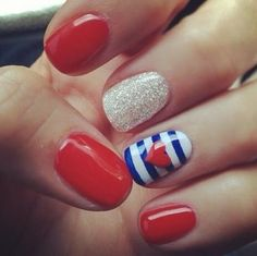 Striped Accent Nail Art