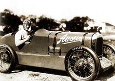 Malcolm Campbell, seated in his 7.5HP Austin on Dayton Beach, just prior to breaking the world speed record for 'baby' cars - 10 February 1931