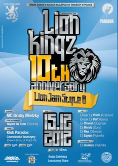 Lion Jam Style Poster