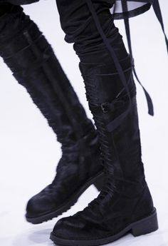 ann demeulemeester | a/w13-14.  guh. i'd give my pinky toes for these boots.