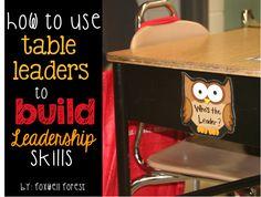 Using Table Leaders to Build Leadership Skills