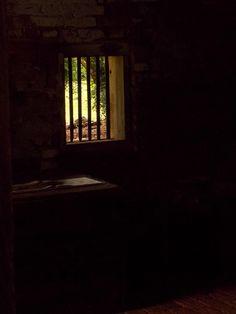 Interior window, African House, Melrose Plantation