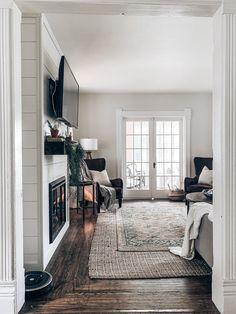 Sure Fire Cozy Enhancer — Our Blue Abode Fireplace Facing, Build A Fireplace, Fireplace Built Ins, Bedroom Fireplace, Home Fireplace, Fireplace Design, Fireplace Ideas, Shiplap Fireplace, Fireplace Remodel