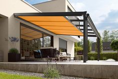 There are lots of pergola designs for you to choose from. First of all you have to decide where you are going to have your pergola and how much shade you want. Pergola Canopy, Pergola With Roof, Patio Roof, Pergola Plans, Backyard Patio, Backyard Landscaping, Pergola Kits, Patio Awnings, Garden Canopy