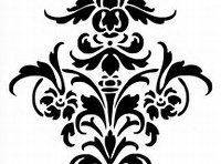Simple Damask Cut Out Stencils Wall Stencil Patterns, Damask Stencil, Stencil Art, Stencil Designs, Stenciling, Printable Designs, Printables, Baroque Pattern, How To Make Stencils
