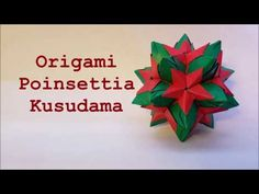 How to Fold an Origami Poinsettia Kusudama Designed by Brian Beitel This model uses 30 square sheets of paper. Origami Toys, Origami Ball, Modular Origami, Origami Diagrams, Christmas Origami, Paper Stars, Poinsettia, Artsy Fartsy, Craft Projects