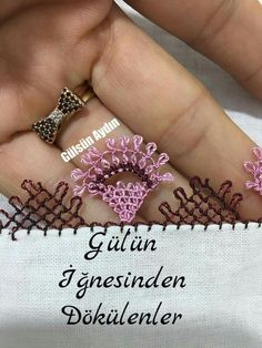 This post was discovered by Em Needle Lace, Diy And Crafts, Gold Rings, Wedding Rings, Engagement Rings, Embroidery, Rose Gold, Jewelry, Stitches