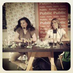 H Έλση Τσουκαράκη παρέα με την Παναγιώτα Βλαντή στην παρουσίαση του βιβλίου ΒΕΛΟΥΔΙΝΗ ΣΥΝΩΜΟΣΙΑ!