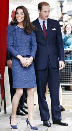 Kate Middleton and Prince William on April 26, 2012 in London.  Credit: Neil Mockford/FilmMagic
