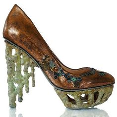 """Anastasia Radevich shoes from her """"Lost Civilizations"""" collection Creative Shoes, Unique Shoes, Next Shoes, Women's Shoes, Funny Shoes, Fashion Shoes, Fashion Accessories, Crazy Shoes, Weird Shoes"""