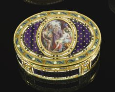 A gold and enamel snuff box, Antoine-Louis Anthiaume, Paris, 1783