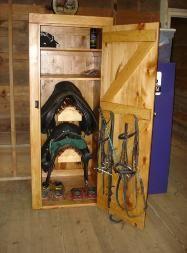 Amish built tack locker: 30W x 32D x 73H