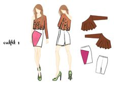 outfit 1 | design by Martina Picotti #fashion #illustration
