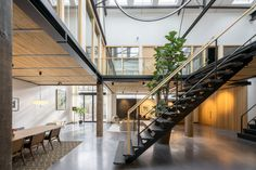 Old sports hall transformed into The Gymnasium apartment in Amsterdam