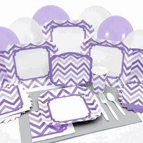 Chevron Purple Baby Shower Tableware