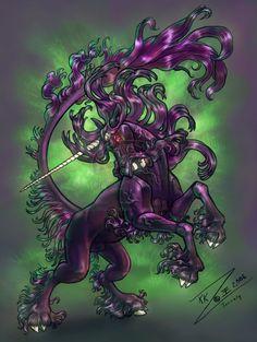 Vexed Black Unicorn by BlackUniGryphon.deviantart.com on @deviantART