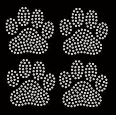 SET OF 4 Classic Paw Prints  you choose by FashionMommyBoutique, $9.50