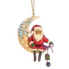 Jim Shore Heartwood Creek Hanging Ornament - Crescent Moon Santa - 12cm -4047786