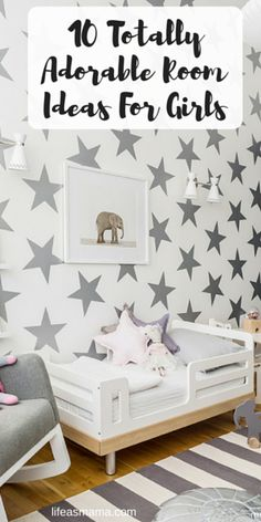 Whether your little girl is a prima ballerina in training, a wannabe Disney princess, or simply marches to the beat of her own drum, here's a list of 10 totally adorable rooms for girls that might catch her–and your–interest.