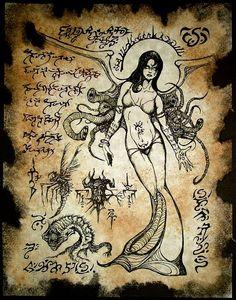 DARK GODDESS cthulhu larp cosplay Necronomicon Fragment by zarono