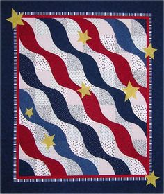 The Virginia Quilter - Quilting Patterns - Misc Patterns - The Wave Quilt Pattern
