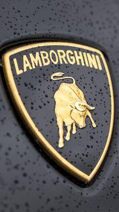 ↑↑TAP AND GET THE FREE APP! Men's World Lamborghini Logo Black Stylish Gold Shield Car For Guys HD iPhone 6 plus Wallpaper