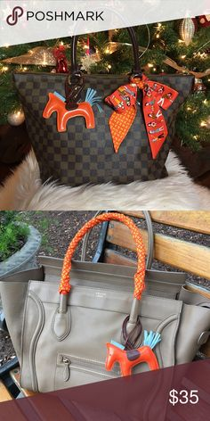"""HORSE """"Rodeo"""" Purse Charm Brand new without tags. Orange bag charm. Similar to Hermes rodeo charms but this one is not genuine leather. Very cute accessory to any bag! **** purses & scarves are not included ☺️ I also have twilly scarves and more colors in this, can make a separate listing Accessories"""