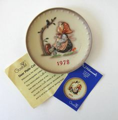 Annual vintage 1978 Hummel Plate Home and by jewelryandthings2