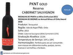 Esse vinho chileno está perfeito para presentear e para consumir! PKNT: Passion-Knowledge-Nature-Time. Encomende pelo whatsup(11)99910-5972