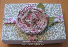 Fabric Flower Pin Package