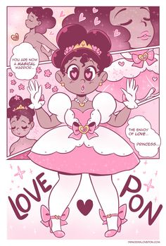 ilovemy4c-hair:  loveponcomic:  The envoy of love… Princess Love♥Pon  THIS COMIC IS SO FLIPPIN CUTE!!!!!! XD I LOVED READING CHAPTER ONE. FOR THE COMIC FANS, CHECK THIS OUT!!!! http://princesslovepon.com/post/115094558688/and-our-story-begins <The beginning