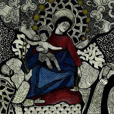 Nossa Senhora do Rosário - Luciana Pupo Art