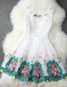 Spring And Summer Embroidery Dress