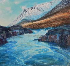 "Saatchi Art Artist KEVAN MCGINTY; Painting, ""RIVER ETIVE SERIES NO.1"" #art"