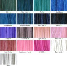 Kanekalon Wefts Color Chart Part 2
