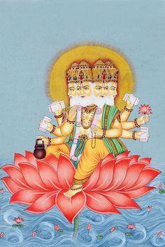 "The Creator - ""Main"" along with Shiva Indiana, Indian Art Paintings, Indian Heritage, Hindu Art, Buddhist Art, Shiva, Krishna, Gods And Goddesses, Cute Drawings"