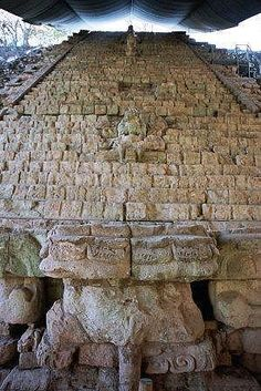 Hieroglyphen-Treppe in Copan, Honduras