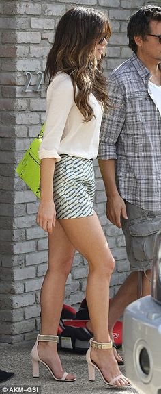 Kate Beckinsale gorgeous legs in shorts and heels